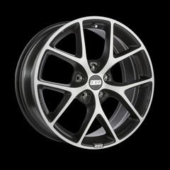 Диск колесный BBS SR 8x17 5x120 ET30 CB72.5 volcano grey/diamond cut