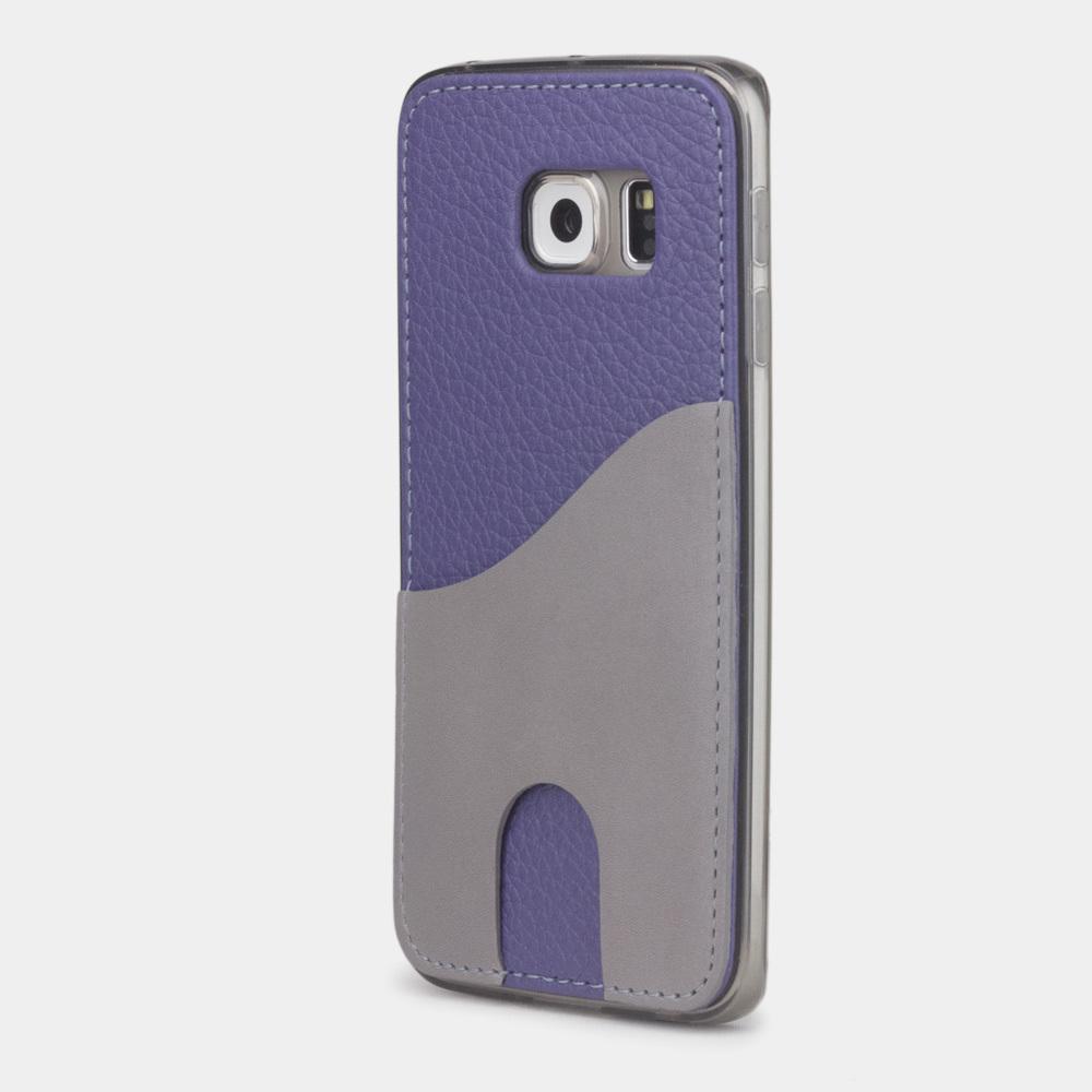 Чехол-накладка Andre для Samsung S6 edge из натуральной кожи теленка, цвета сирени