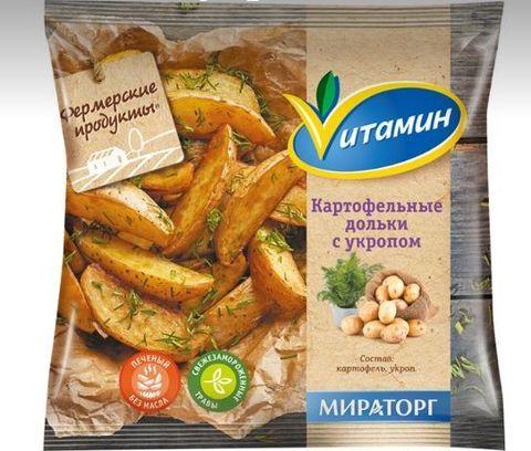 """Картофельные дольки с укропом """"Vитамин""""  400 г"""
