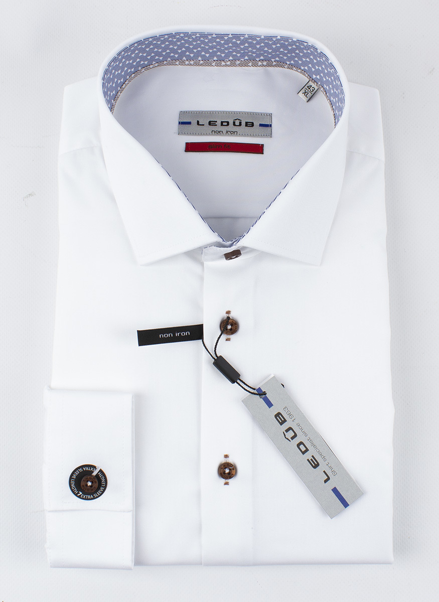 Рубашка Ledub slim fit 0136803-910-000-000-SF-White