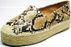 Туфли на платформе летние Lily shoes Q38snake.