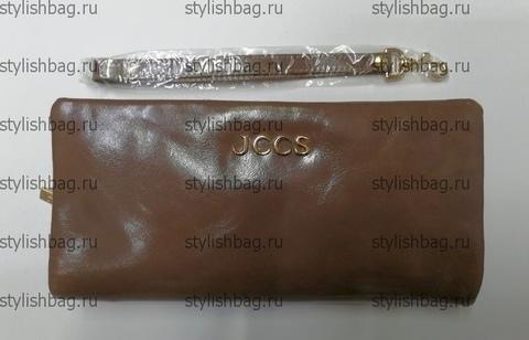 Кошелек из кожи на молнии JCCS js-3205bege
