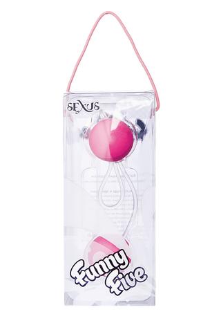 Вагинальные шарики Sexus Funny Five, ABS пластик, Розовый, Ø 3 см