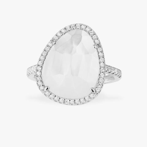 Кольцо из серебра с перламутровым кварцем