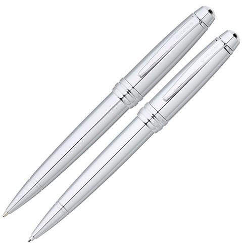 Набор Cross Bailey: шариковая ручка и механический карандаш 0.7мм. Цвет - серебристый.