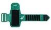 Карман на руку для фитнеса Asics MP3 зеленый с принтом