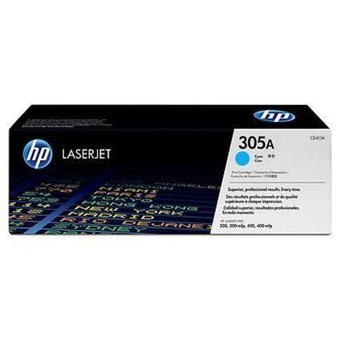 Картридж HP CE411A (HP 305A) для принтеров HP LaserJet Pro color M351a, M375nw, M451dn, M451dw, M451nw, MFP M475dn, M475dw (голубой, 2600 стр.)
