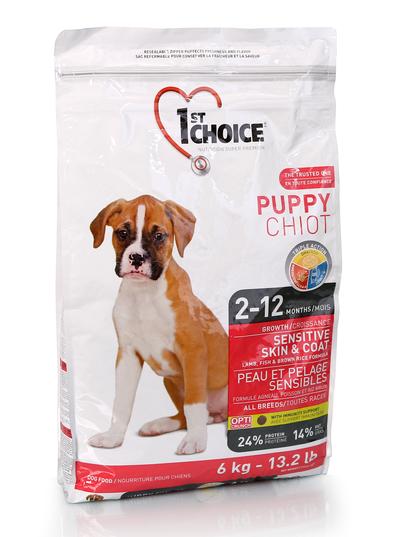 Сухой корм Корм для щенков всех пород, 1st Choice Puppy, для здоровья кожи и шерсти, с ягненком и рыбой щенк_кожа_6.png