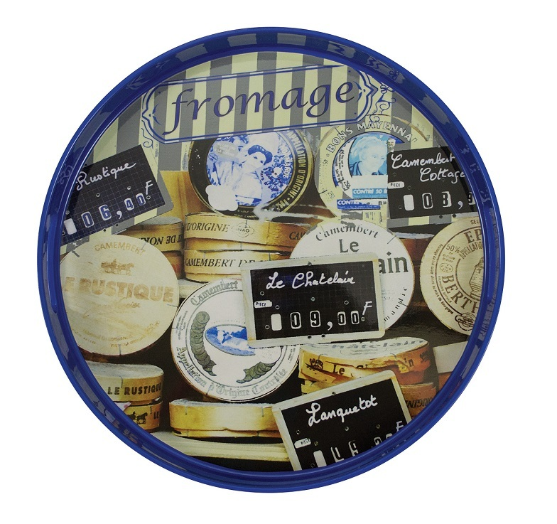 Подносы Поднос круглый с бортиком и ручками Boston Warehouse Fromagerie podnos-kruglyy-s-bortikom-i-ruchkami-boston-warehouse-fromagerie-ssha.jpg
