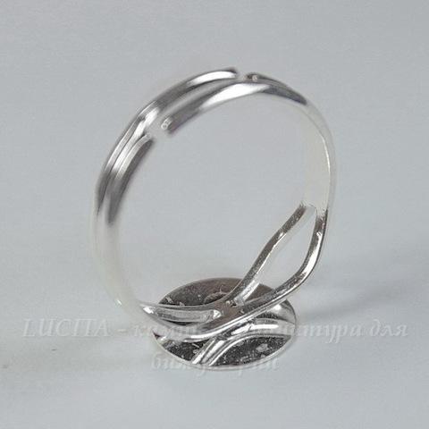 Основа для кольца с круглой площадкой 10 мм (цвет - серебро)