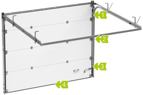 Секционные ворота Alutech ШхВ 2500х2250 мм c эл.приводом