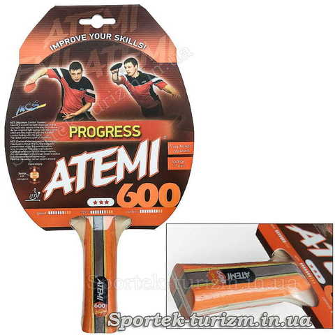 Ракетка для профессионалов настольного тенниса Atemi 600 Progress