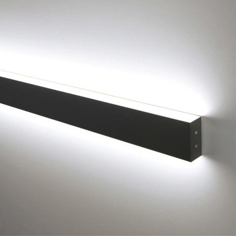 Линейный светодиодный накладной двусторонний светильник 128см 50Вт 3000К черная шагрень 101-100-40-128