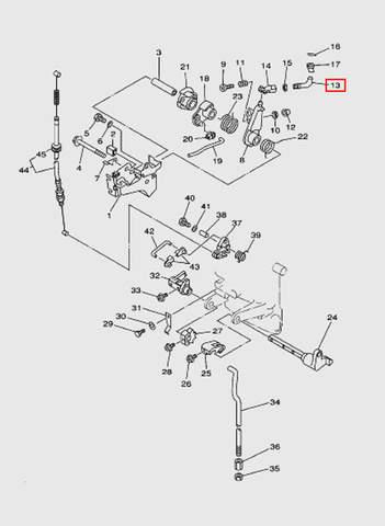 Связь  для лодочного мотора T15, OTH 9,9 SEA-PRO (12-13)