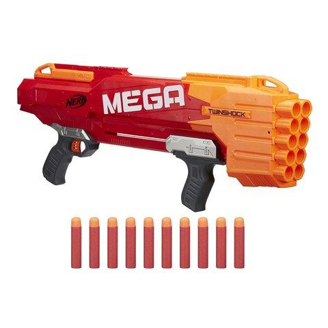 Nerf: Бластер Мега Твиншок B9893 — Mega TwinShock — Нерф Нёрф Хасбро