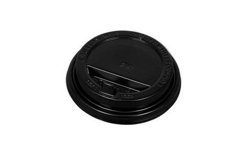 крышка 90 мм черная с закрытым питейником, для стаканов 350, 400, 450, 500 мл