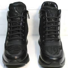 Женские модные сникерсы Evromoda 965 Black