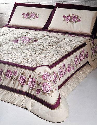 Постельное белье 2 спальное евро Cassera Casa Musa розовое