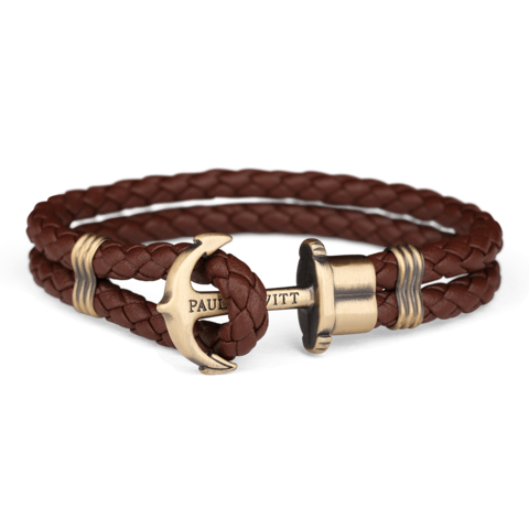 Leather Anchor Bracelet Brown