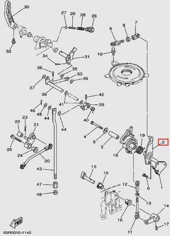 Уровень контроля магнето для лодочного мотора Т30 Sea-PRO (13-2)