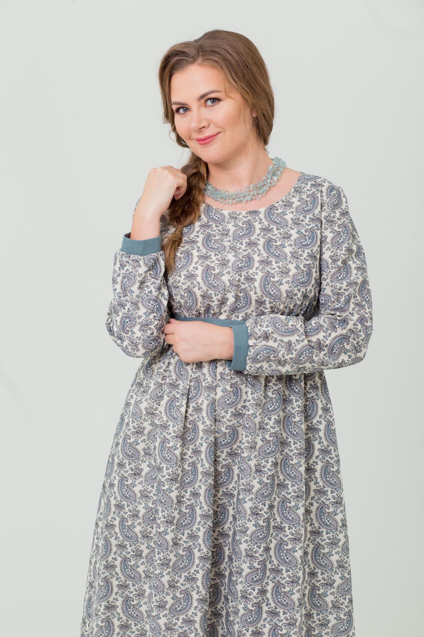 Славянское платье Славное из льна