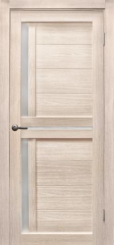 Дверь Эколайт Дорс Медиана, стекло белое матовое, цвет лиственница кремовая, остекленная