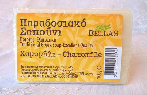 Натуральное оливковое мыло с ромашкой Bellas 100 гр