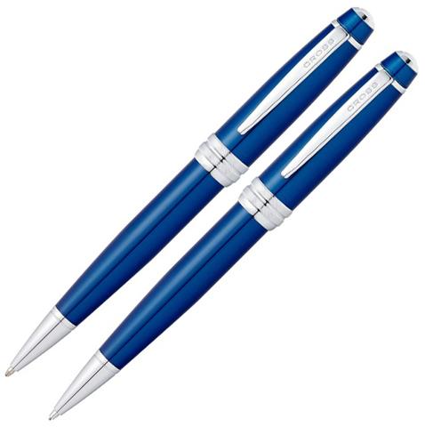 Набор Cross Bailey: шариковая ручка и механический карандаш 0.7мм. Цвет - синий.