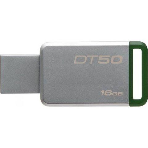 Накопитель Kingston DataTraveler 50 16GB USB 3.1 Green (DT50/16GB)
