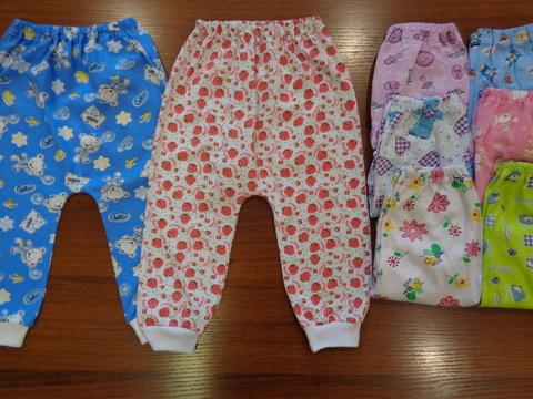 Ползунки-штаны цветные б/ног( кулир)