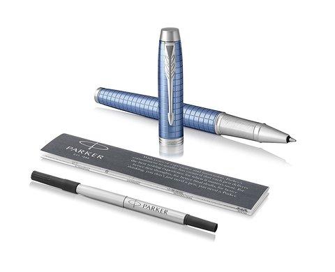 Набор: Чехол для ручки и Ручка роллер Parker IM Premium Blue CT123