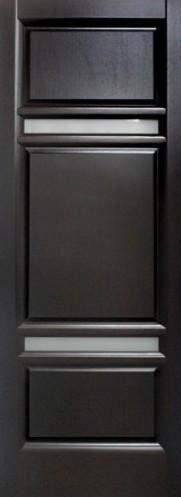 Дверь межкомнатная,Россич Щит ДО, Цвета: Черный дуб, Беленый дуб