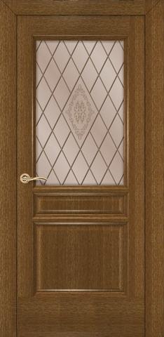 Дверь Румакс Кантри ДО, стекло сатинат матовое с рисунком, цвет ольха, остекленная