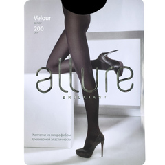Колготки Allure Velour 200D (nero)