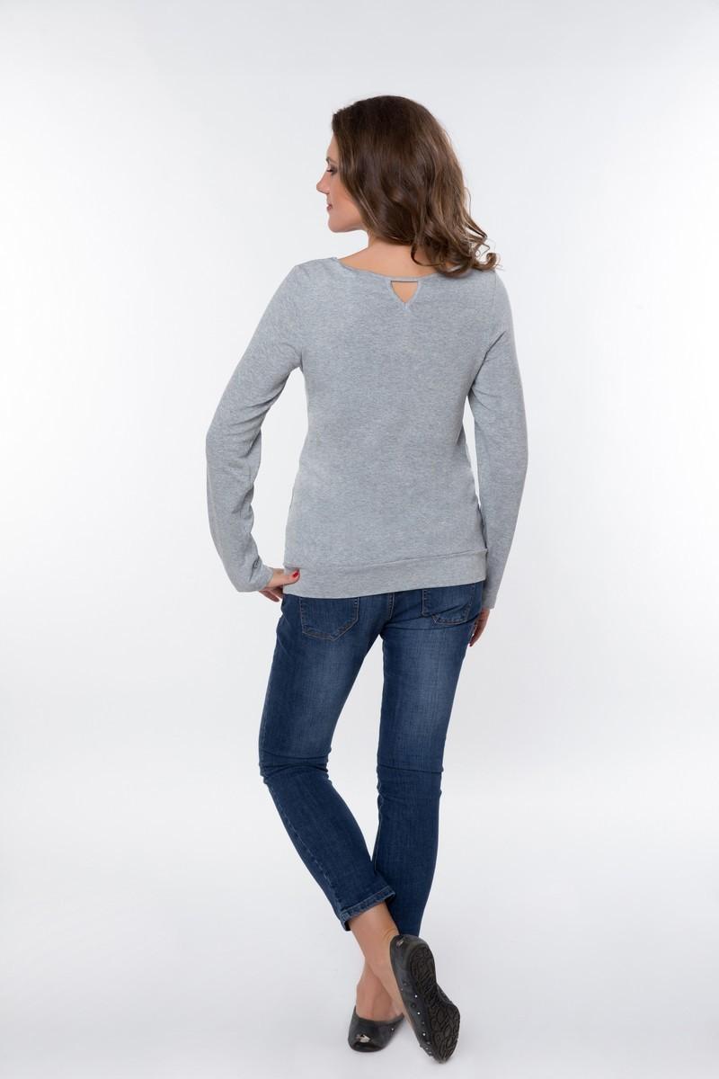 Блузка 01837 серый