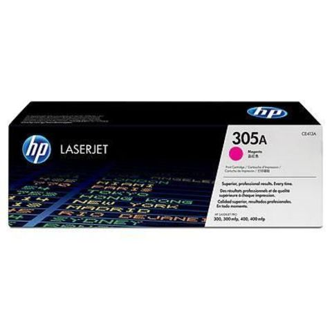 Картридж HP CE413A (HP 305A) для принтеров HP LaserJet Pro color M351a, M375nw, M451dn, M451dw, M451nw, MFP M475dn, M475dw (пурпурный, 2600 стр.)