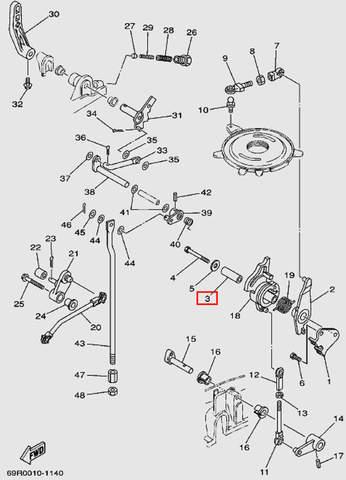 Втулка для лодочного мотора Т30 Sea-PRO (13-3)