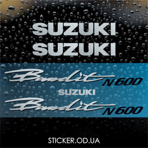 Набор виниловых наклеек на мотоцикл SUZUKI BANDIT 600N, 1996