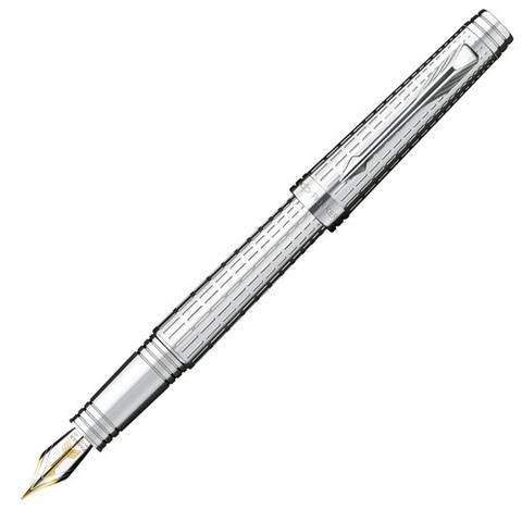 Купить Перьевая ручка Parker Premier DeLuxe F562, цвет: Chiselling ST, S0887970 по доступной цене