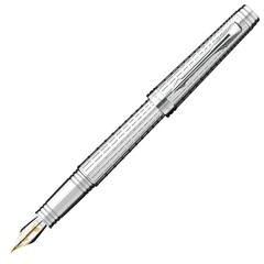 Перьевая ручка Parker Premier DeLuxe F562, цвет: Chiselling ST, S0887970