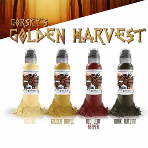 Краска World Famous Tattoo Ink Damian Gorski Golden Harvest Set 4шт