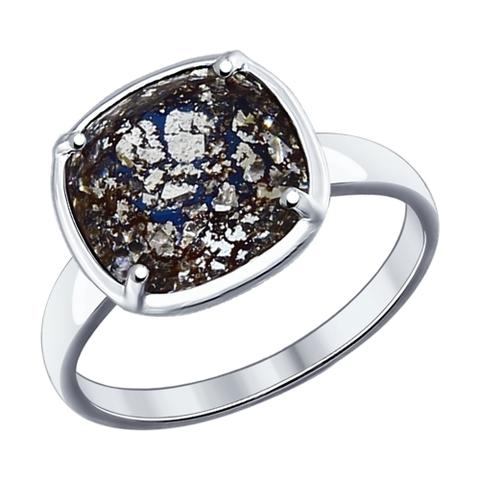 Кольцо из серебра с чёрным Swarovski от SOKOLOV