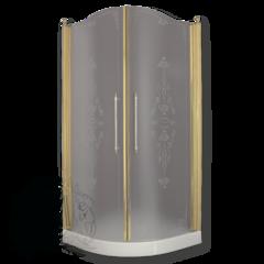 Душевая ограждения Migliore Diadema 90см. ML.DDM-22.790.ST 2 распашные двери, стекло матовое с декором