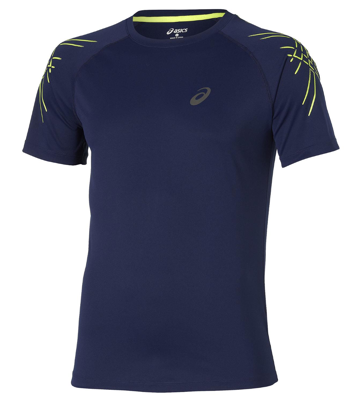 Мужская спортивная футболка Asics SS Stripe Top (126236 8052) синяя
