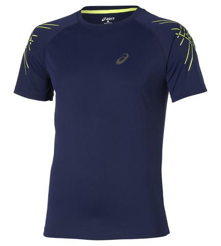 Спортивная футболка Asics SS Stripe Top мужская синяя