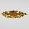 """Сеттинг - основа - подвеска """"Ажурный"""" для камеи или кабошона 20 мм (цвет - античное золото)"""
