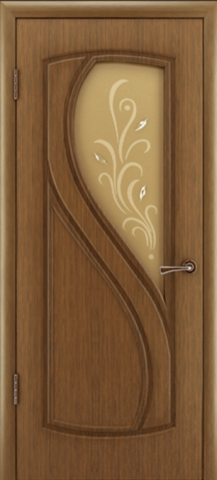 Дверь Владимирская фабрика дверей Грация 10ДО3, цвет орех, остекленная