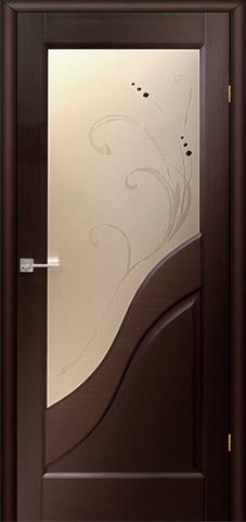 Дверь Глория ПО (венге, остекленная шпонированная), фабрика LiGa