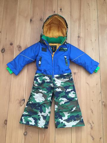 комбинезон детский зимний SASHA JUNIOR синий с милитари