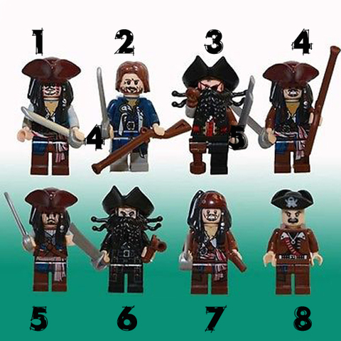 Minifigure Pirates of the Caribbean Blocks Building
